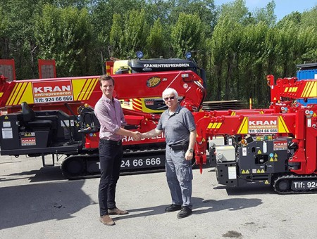 Four spider cranes sold in Norway
